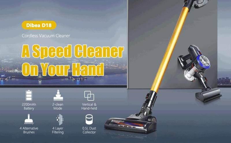 Dibea D18 Cordless Handheld Stick Vacuum Cleaner Singapore