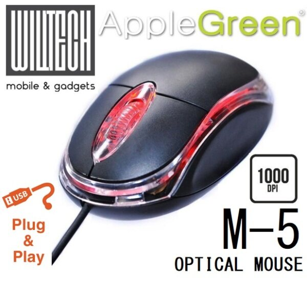 APPLE GREEN USB MOUSE - M5 [OFFER!!!] Malaysia
