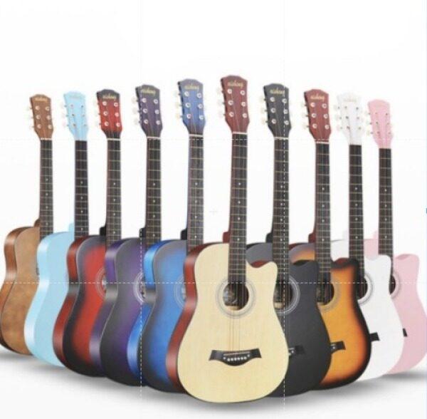Ready Stock 38 inch Guitar with Bag, Pick & String Set/ Guitar COMBO/ Gitar Akustik/Guitar Combo Malaysia