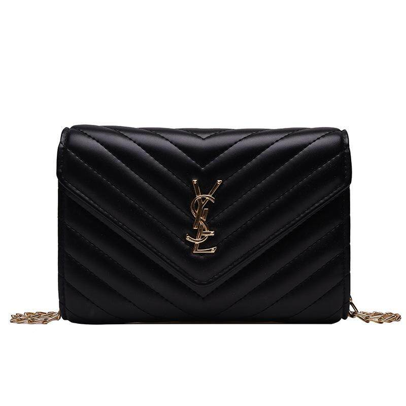 Chain Bag Womens Bag 2019 New One Shoulder Messenger Bag Real Leather Bag Star One Style Versatile Envelope Bag Small Square Bag