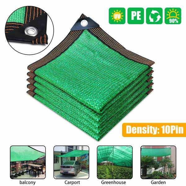 4x6m/4x5m/4x4m/3x5m/3x4m/3x3m/2x4m/2x3m/2x2m 90% Sunshade Sun Shade Net 10-Pin Anti-UV Sunshade Net Outdoor Garden Canopy Sunscreen Cloth Car