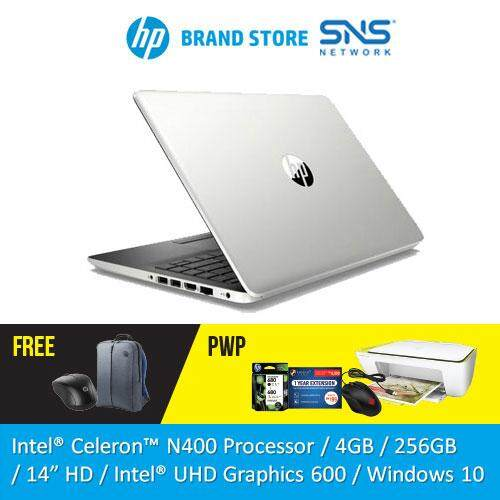 NEW HP Laptop 14s-cf0064TU 14 HD (Celeron N4000, 256GB SSD, 4GB, Intel HD, W10) - Silver [FREE] HP Backpack + HP Wireless Mouse Malaysia
