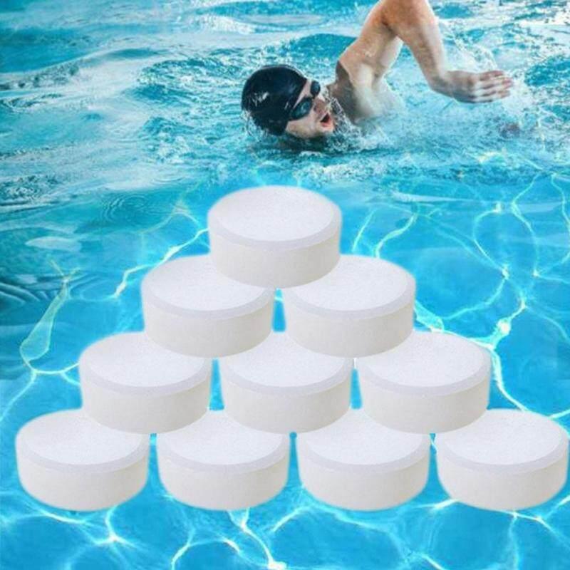 BỘ 50 Viên Sủi Nước Vệ Sinh Spa Bể Bơi Không Độc Hại Đa Năng Algaecide Ngoài Trời Diệt Khuẩn Clo Viên