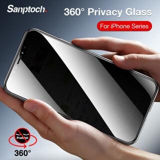 Sanptoch Bảo Vệ Màn Hình Riêng Tư 360 Kính Cường Lực Mini Cho iPhone 11 12 Pro Max 12, Dành Cho iPhone X Xs Max XR 7 8 Plus SE 2020 Màng Bảo Vệ Che Phủ Toàn Bộ thumbnail