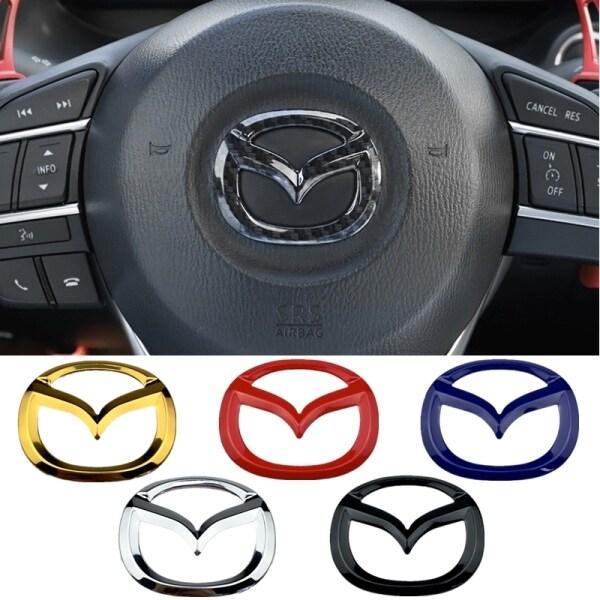 1 Miếng Dán Logo Giữa Vô Lăng Ô Tô Phụ Kiện Trang Trí Xe Hơi Cho Mazda 3 6 323 626 929 RX8 RX7 MX3 CX9 CX7 CX5 Atenza Axela