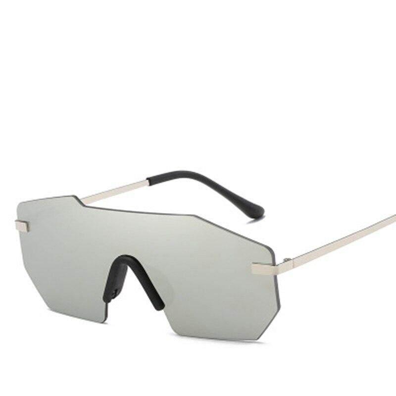 SEVEN DAYS 2019 Vintage Rimless sunglasses women Oversized sunglasses Female sun glasses for lady Mirror Shades UV400