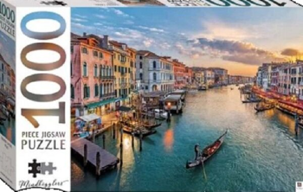 1000 Piece Jigsaw Puzzle Grand Canal Italy: 9781488927409 : By Hinkler Books Malaysia