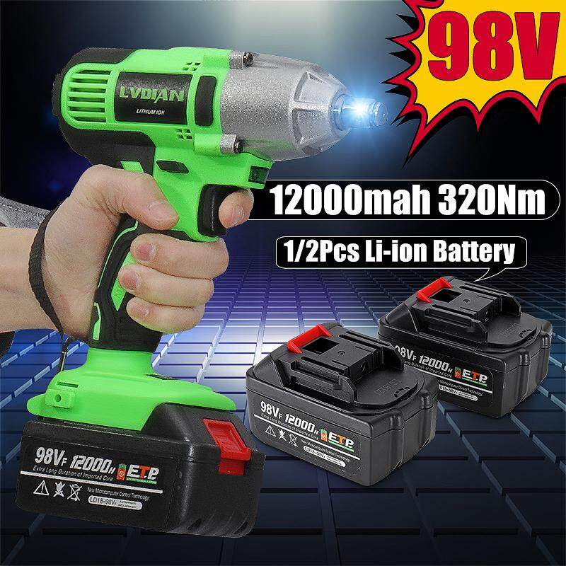 98V High Torque 320Nm Electric Cordless Impact Wrench Screwdriver