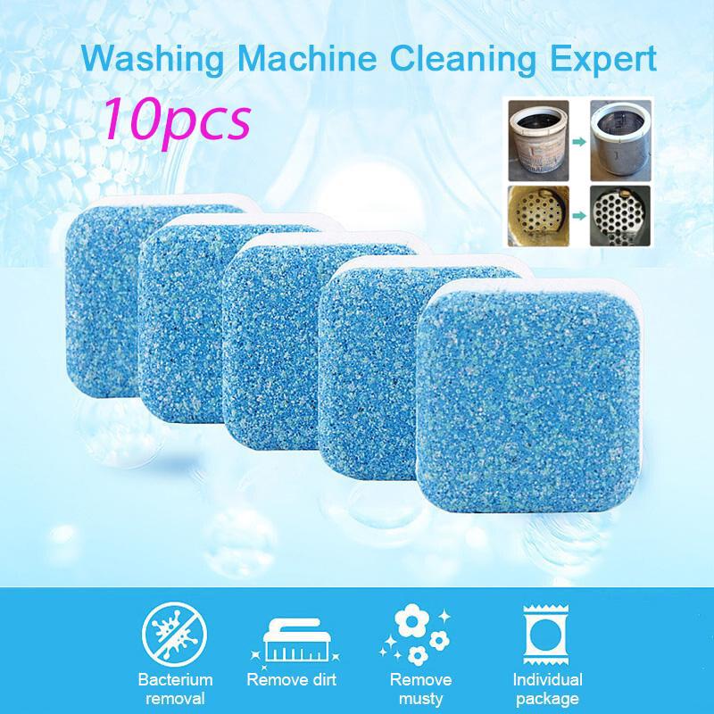 【Trong Kho】 Song Ngữ 10 Viên Máy Giặt Làm Sạch Dụng Cụ Làm Sạch Bể Chất Tẩy Rửa Sủi Bọt Loại Bỏ Chất Thải Gây Mùi