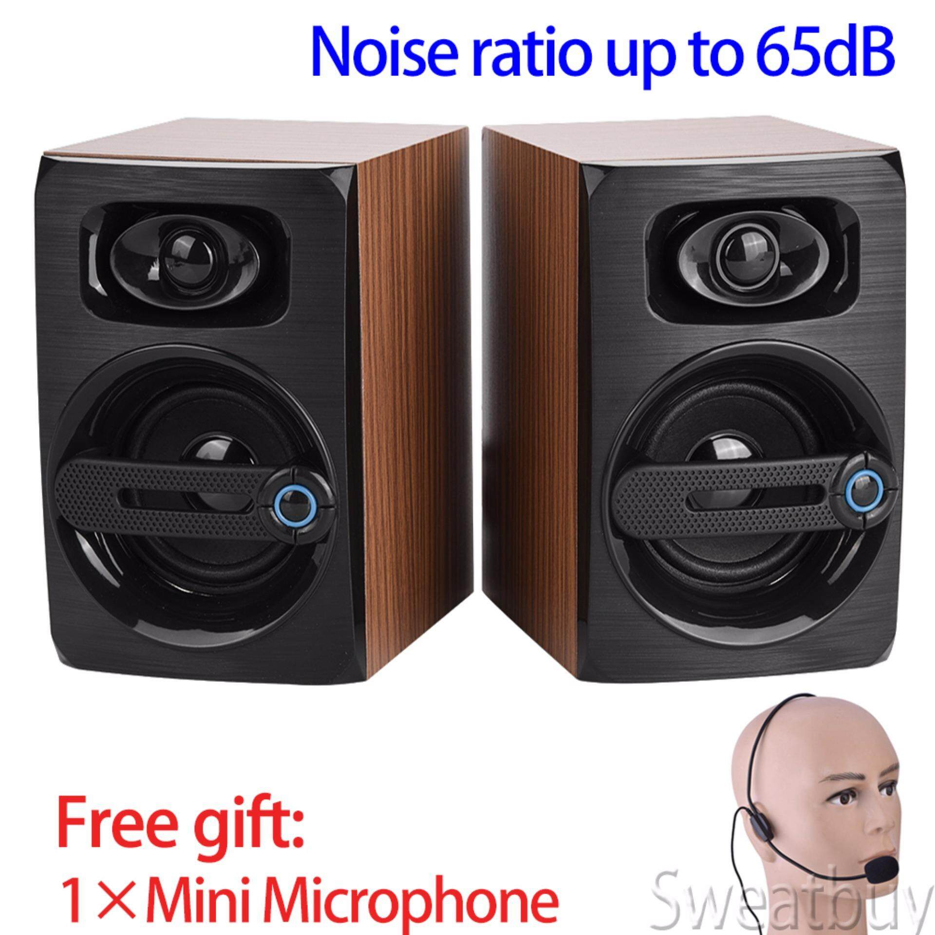 【Free Microphone】HiFi Lossless Music Computer Speakers Bass Amplification Noise Cancelling PC Subwoofer Malaysia