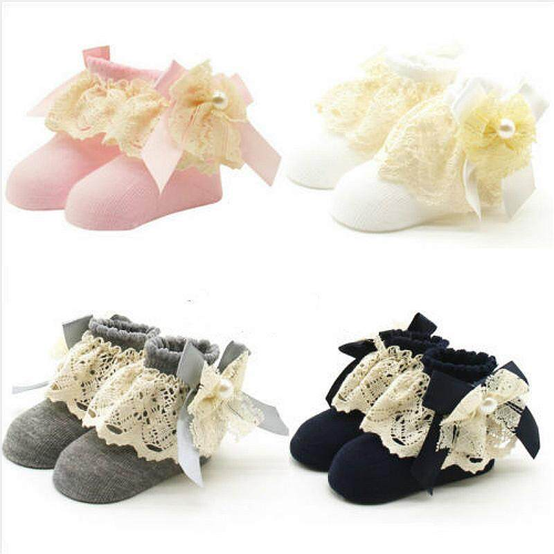 Cute Baby Lace Socks Cute Girls Tiny Toddler Knitted Cotton Blend Ankle Socks By Mm88 Store.