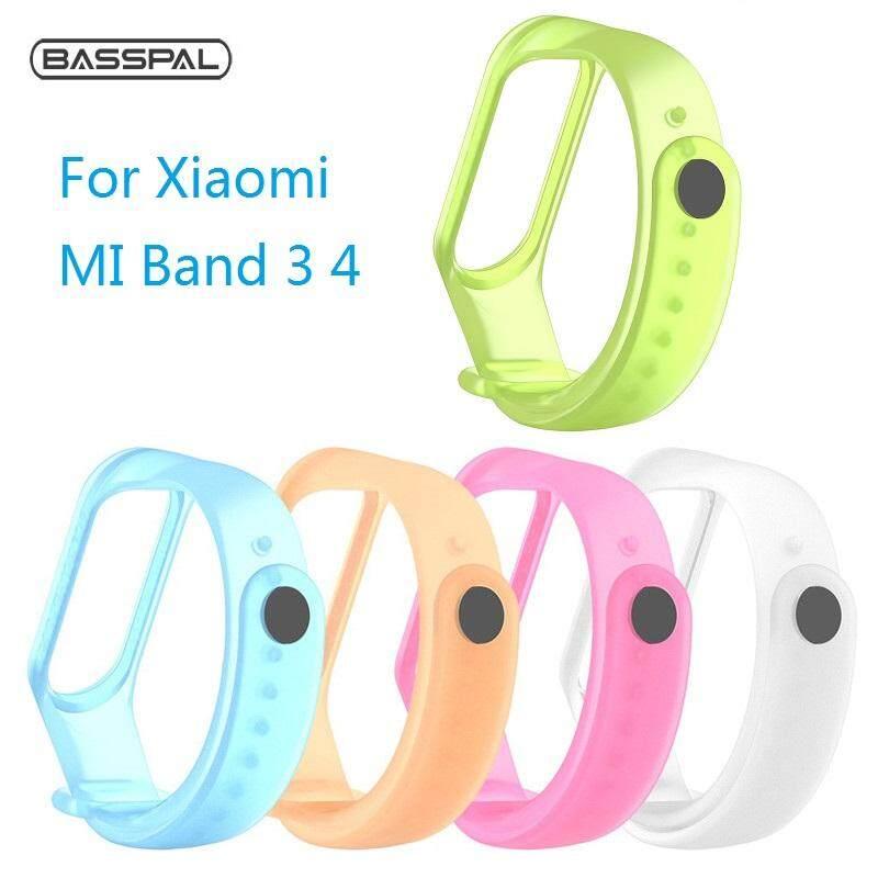 Giá Basspal Mi Band 3 Dây Đeo Vòng Tay Trong Suốt Silicone Và Xiaomi Mi Band4 Nồi Cơm Điện Từ Ban Nhạc Thông Minh Mi3/4 Ban Nhạc Phụ Kiện dây Đeo Cổ Tay