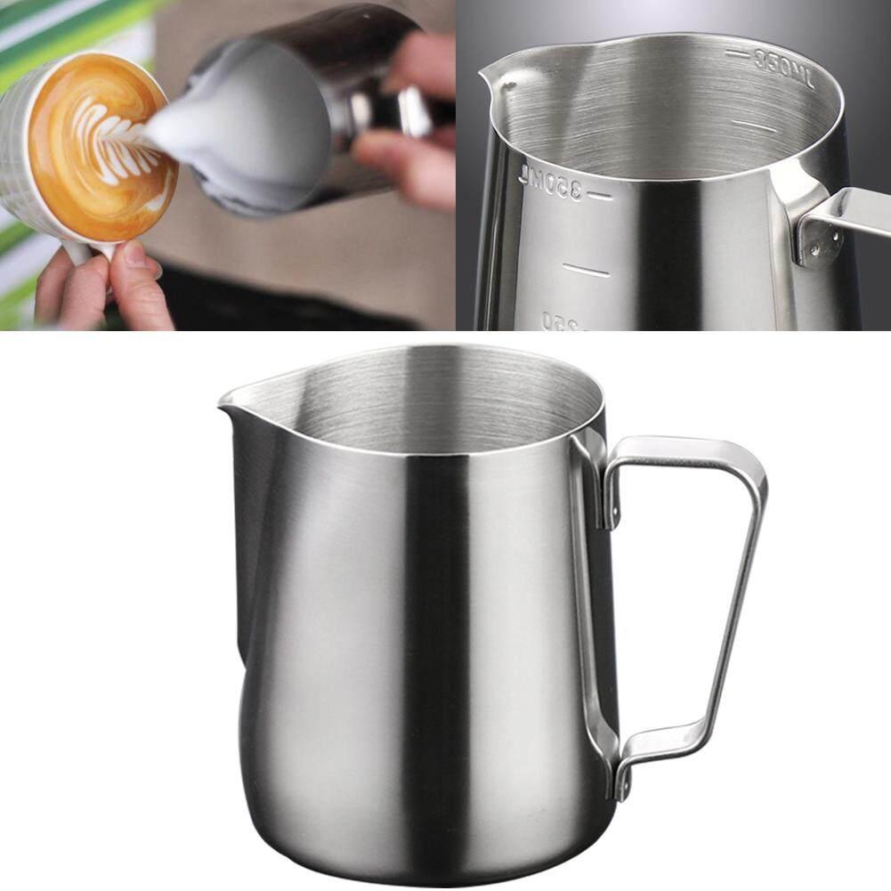 150//200//350//600ml Stainless Steel Milk Frothing Jug Cup Coffee Latte Pitcher