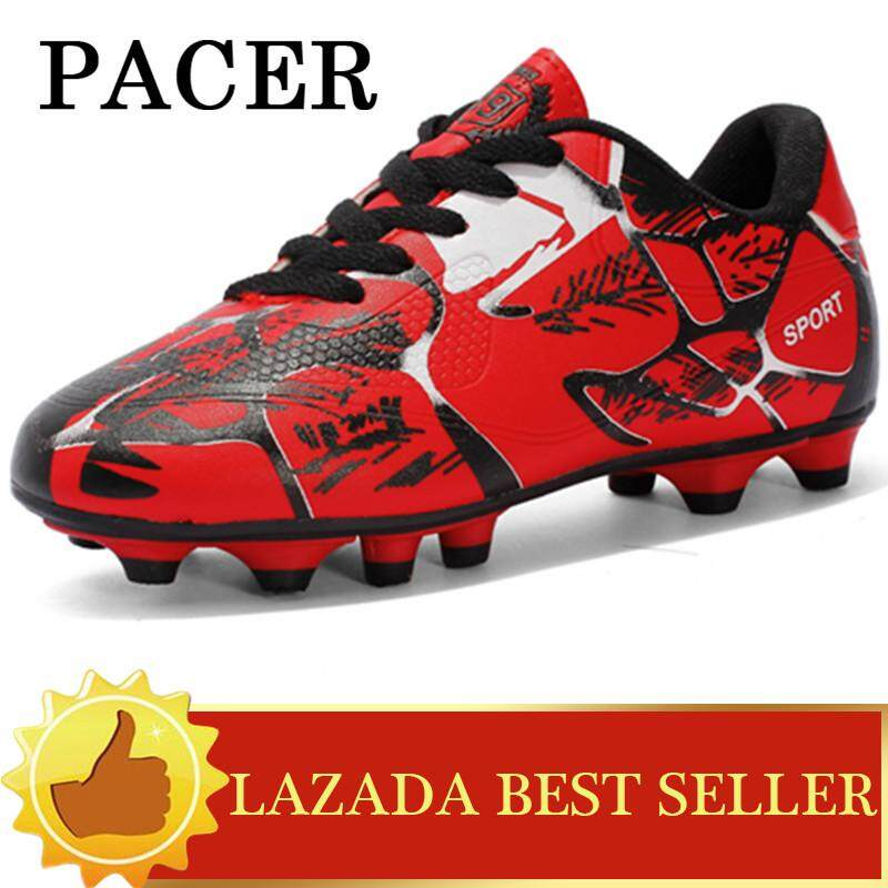 PACER Children Football Boots Cleats Training Long Spikes Kids Sneakers  Sport Soccer Shoes