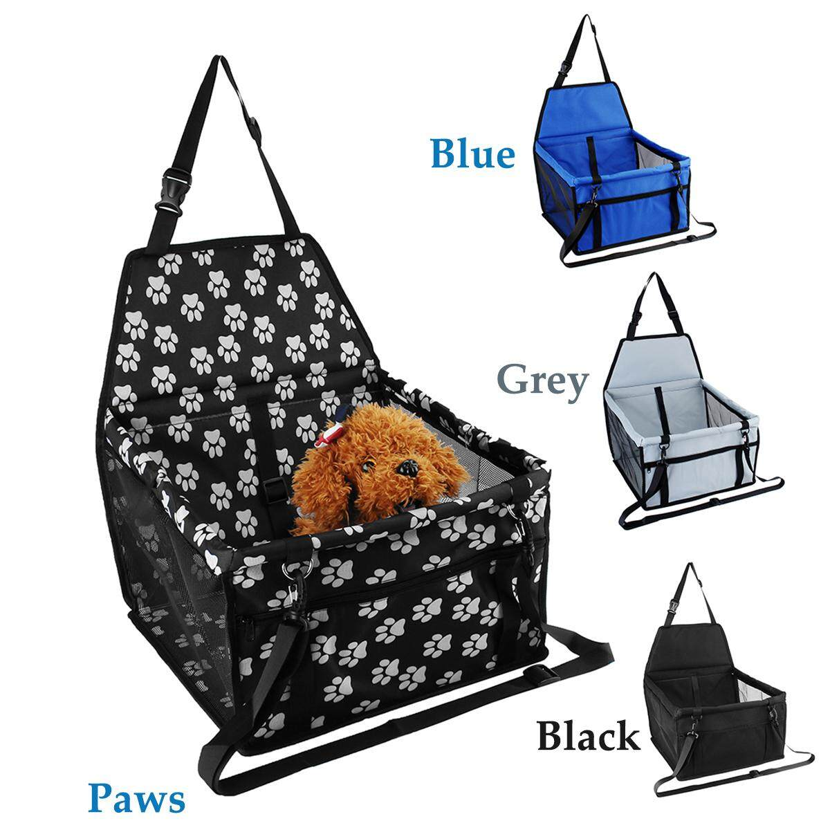 Folding Waterproof Puppy Pet Cats Dog Car Travel Booster Seat Carrier Protector - Paws By Freebang.