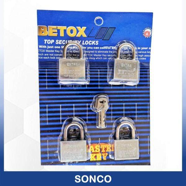 4 Pcs BETOX 50mm Stainless Steel Top Security Heavy Duty Padlock / Kunci Padlock