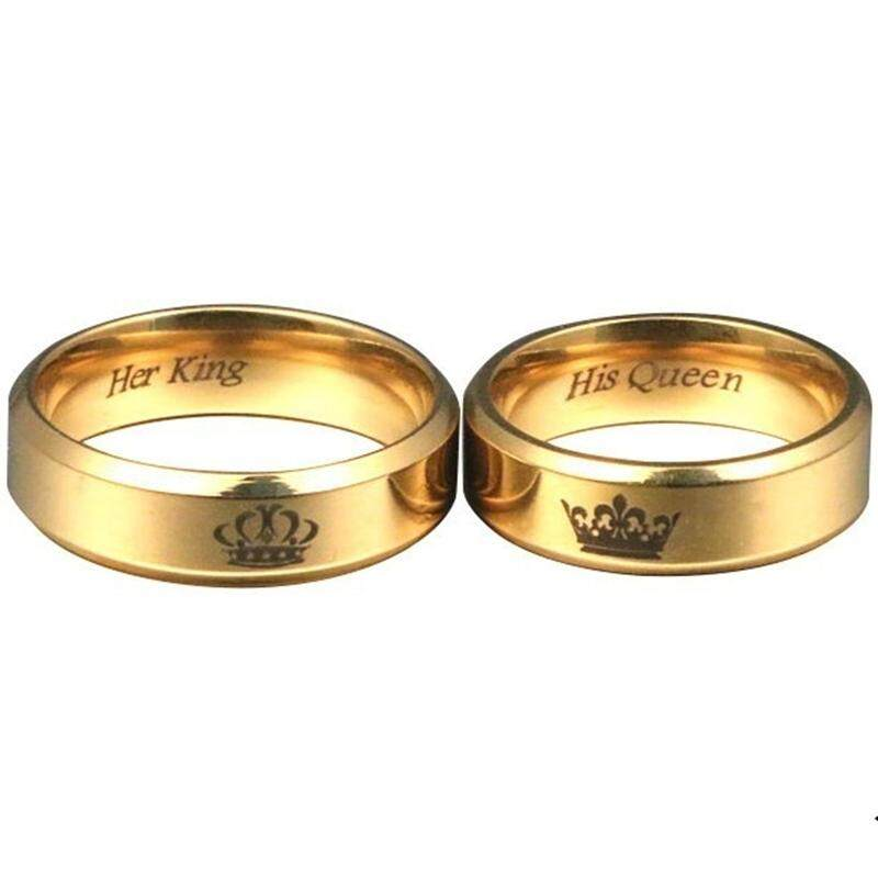 His Queen Her King Couple Ring Lovers Wedding Jewelry Rings By Trymix Tech.