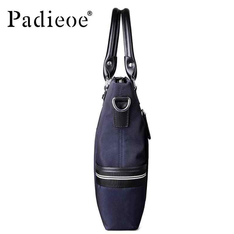 Microeco Padieoe mens bag mens office bag ladies authentic leather Messenger bag fashion large capacity mens documents business briefcase mens handbags - international briefcase