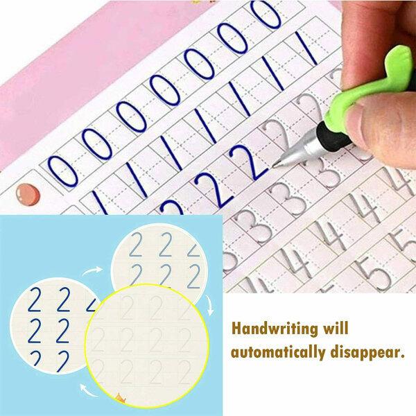4pcs Sank Magic Practice Copybook for Kids - The Print Handwiriting Workbook-Reusable Writing Practice Book (Alphabet Book with Pen) Malaysia