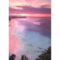 Tranh Đính Đá Hoàn Toàn Tự Làm 5D Thêu Chữ Thập Phong Cảnh Bờ Biển (30*40 Cm)