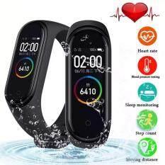 【Global Version】M4 Đồng Hồ Thông Minh Theo Dõi Sức Khỏe Vòng Tay 0.95inch AMOLED Full Màn Hình Màu IP67 Bluetooth Chống Nước 4.0 Vòng Tay Thông Minh