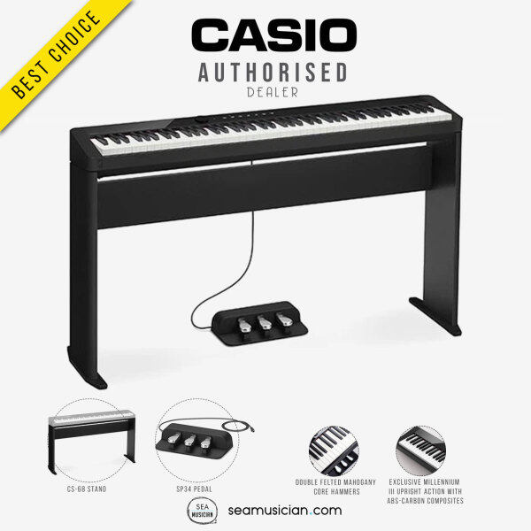 CASIO PRIVIA PX-S1000 88 KEYS DIGITAL PIANO COLOR BLACK WITH STAND & PEDAL (PXS1000 88-KEYS/ PXS 1000/ SEAMUSICIAN) Malaysia