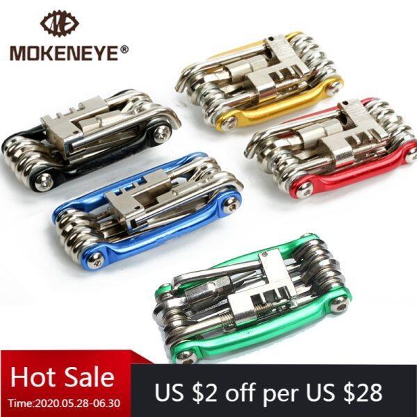 Phân phối Thực tế Mini REPAIR SET 11 trong 1 đa chức năng Xe đạp công cụ sửa chữa Set Kit cờ lê Screwdriver Chain Cutter phụ kiện công cụ