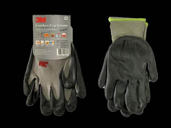 3M Comfort Grip Gloves - Nitrile Foam Coated Gloves - For Multiple Purposes