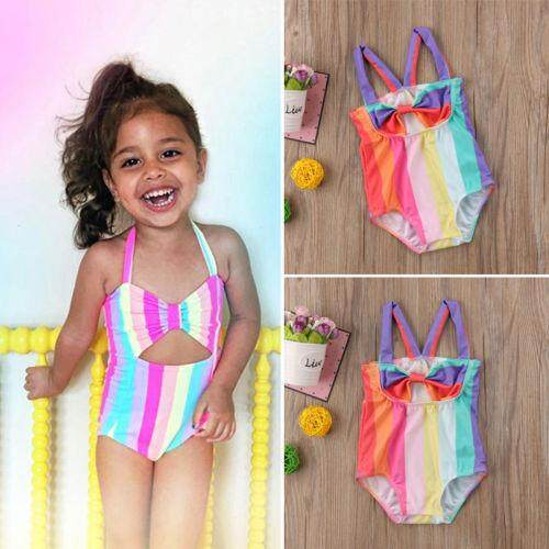 Rainbow Toddler Kids Baby Girl Swimsuit Bikini Swimwear Bathing Suit Beachwear By Staire On.