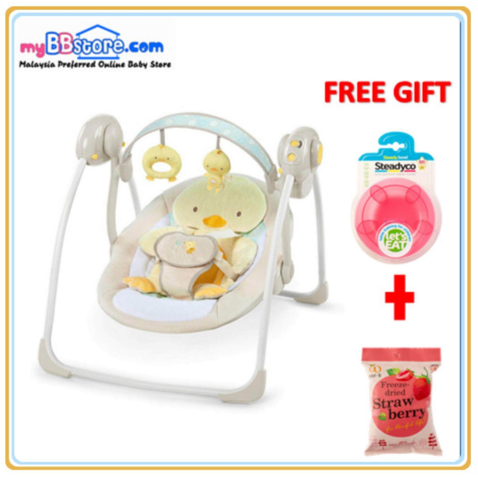 d0c30bb46579 Bright Starts: Soothe n Delight Portable Swing Quack & Cuddles