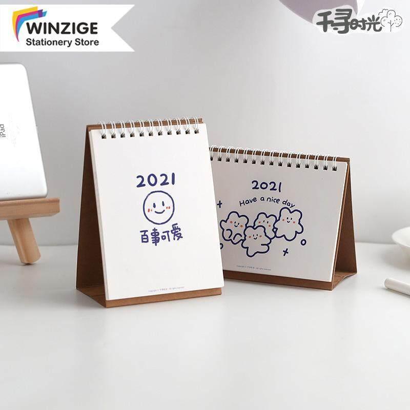 Winzige Lịch Để Bàn Mini Dễ Thương 2021 Sổ Lập Kế Hoạch Nhật Ký Văn Phòng Phẩm Cho Học Sinh Văn Phòng
