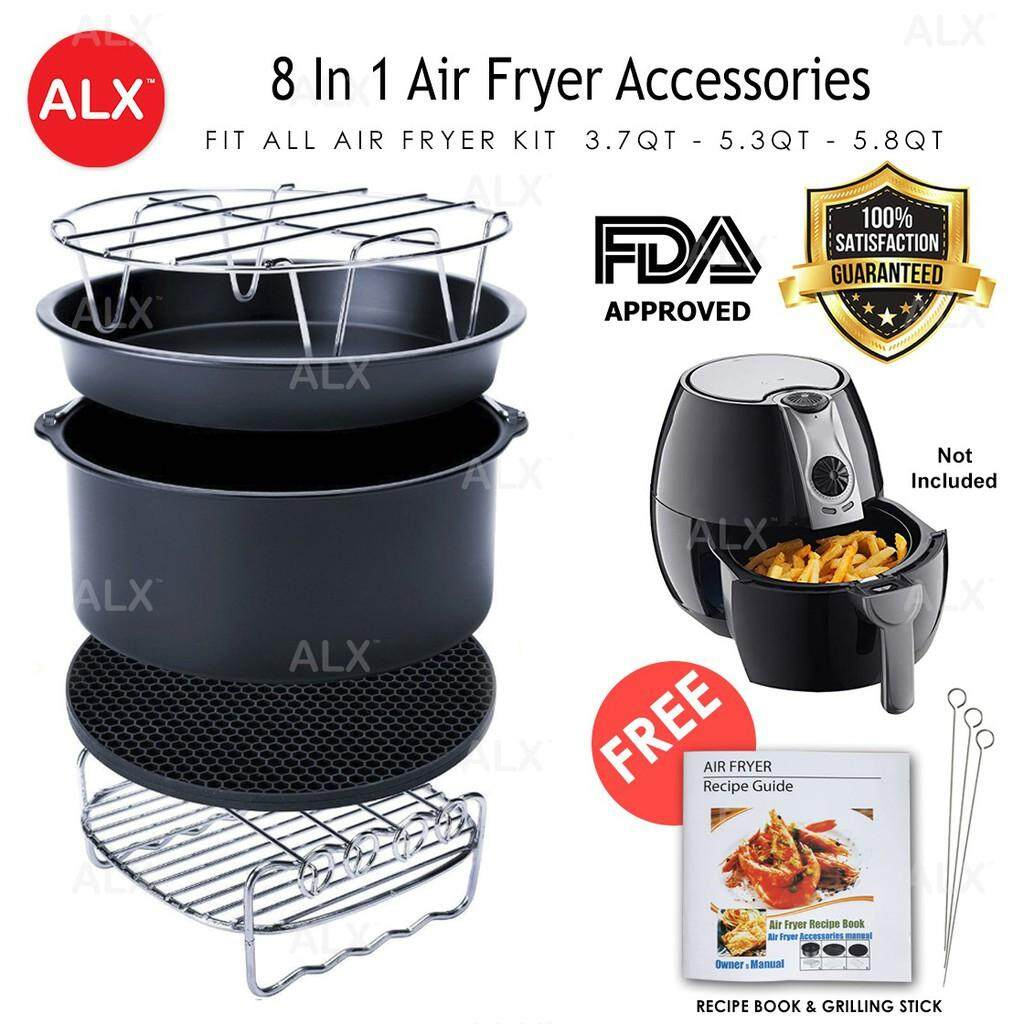 Ready Stock 8 In 1 Set 7 Inch Fda Approved Air Fryer Accessories Universal All Home By Wonderful World 1.