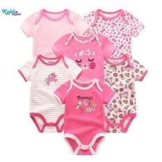 Kiddiezoom 6 bộ quần áo dạng yếm cho trẻ em sơ sinh – INTL