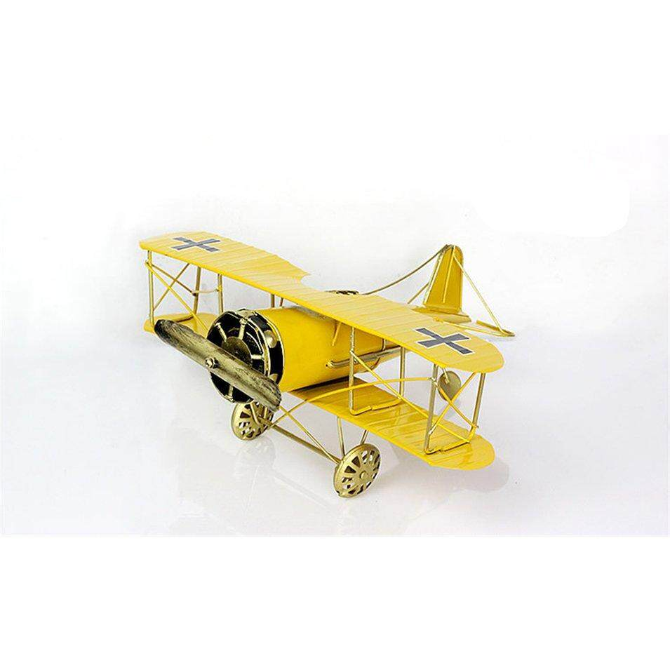 Hot Sales Tin Fighter Arrangement Aircraft Model Projects Decoration Ornament