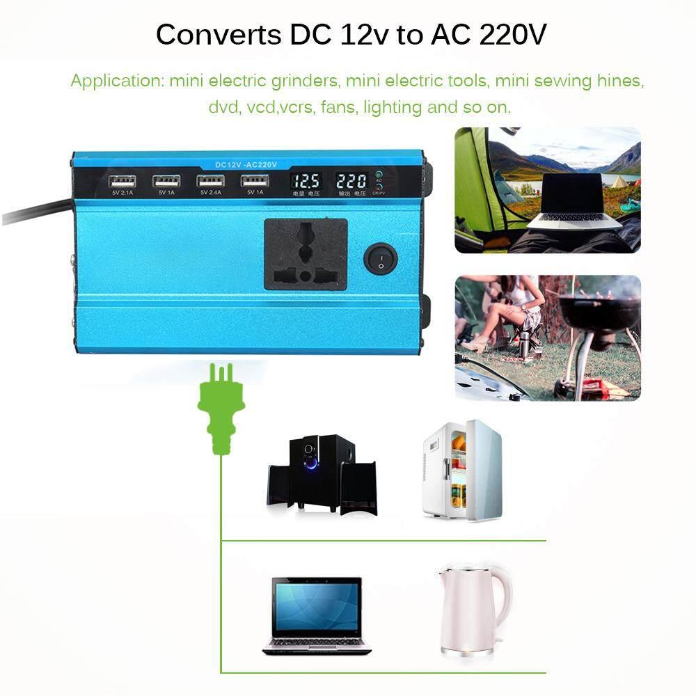 Image 5 for อินเวอร์เตอร์ 200 W Peak DC12/24 V To AC220V ประสิทธิภาพสูงโลหะผสมอะลูมิเนียมพกพารถพลังงานแสงอาทิตย์เครื่องแปลงไฟเครื่องแปลงกระแสไฟรถยนต์