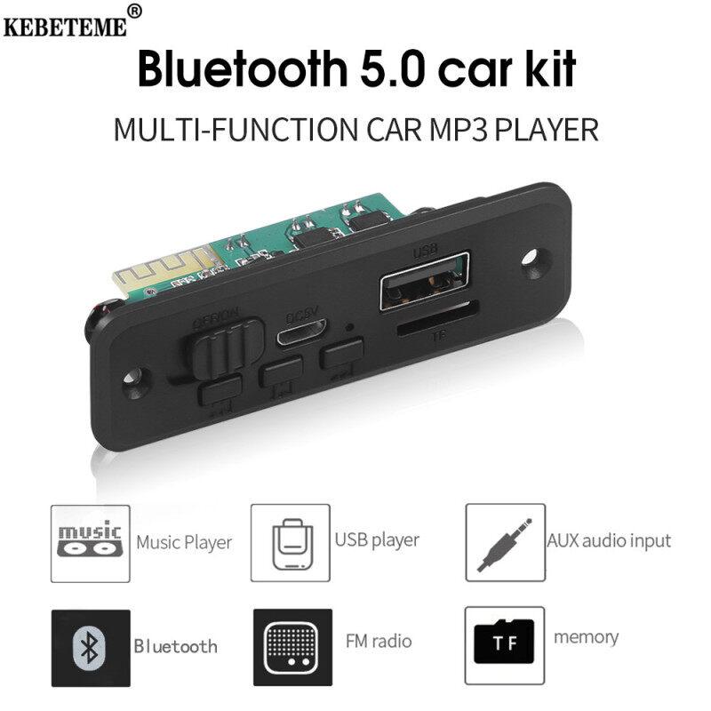 Bảng giá Đầu phát âm thanh kebeteme 6W, Bộ khuếch đại + BT 5.0 + ghi âm, máy nghe nhạc MP3 DC 5V, Mạch Giải Mã không dây Bluetooth v5.0 WMA, cổng USB TF Radio FM, đầu vào Aux Audio DC 5V cho ô tô, gia đình