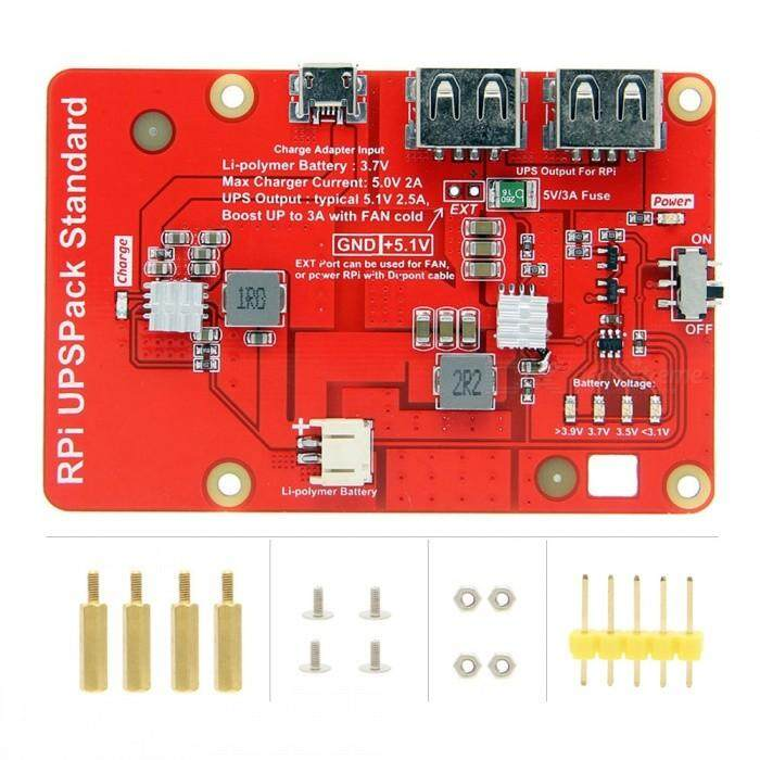 Geekworm RPi UPS Pack,  Battery Expansion Board Power Supply Charging Module for Raspberry Pi