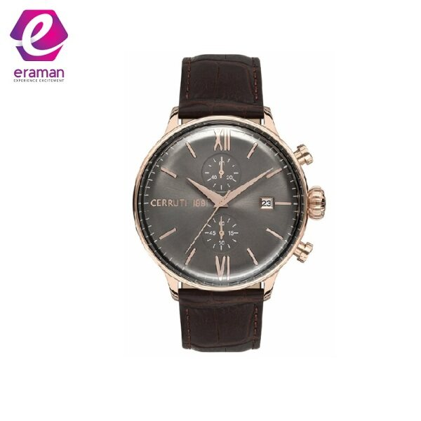CERRUTI Dervio Rose Gold Brown Leather Chronograph CRA178SR13BR Malaysia