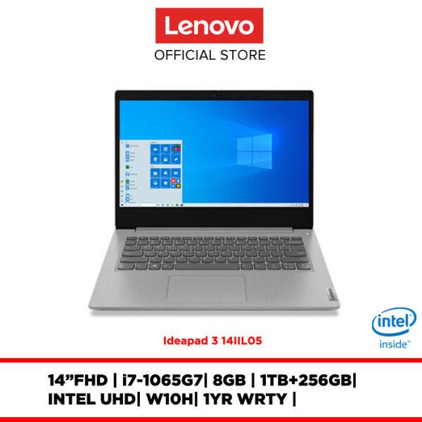 Lenovo Notebook Laptop IdeaPad 3 14IIL05 Grey 81WD001FMJ/81WD001GMJ 14/i5-i7/8GB/1TB+256GBSSD/INTEL UHD/W10H/1YRWRTY Malaysia