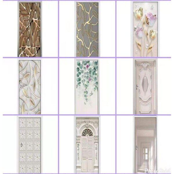 Pelekat Pintu Dekorasi Rumah Balut Pintu Stiker Dinding Wallpaper Poster Pelekat Diri PVC
