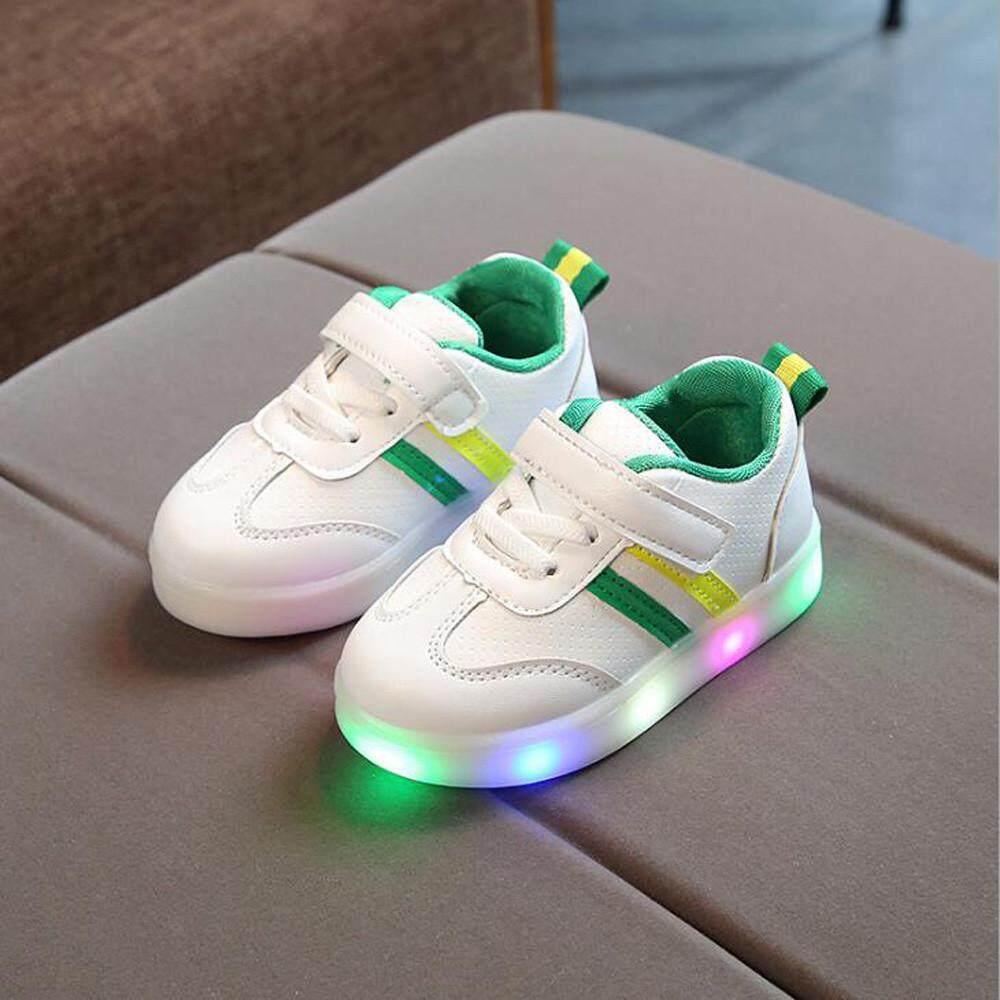 Giá bán CocolMax Tập Đi Trẻ em Bé Sọc Giày ĐÈN LED Phát Sáng Dạ Quang Giày