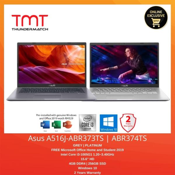 Asus A516J-ABR373TS / ABR374TS | i3-1005G1 | 4GB 256GB SSD | 15.6 | Free Office Home and Student Malaysia