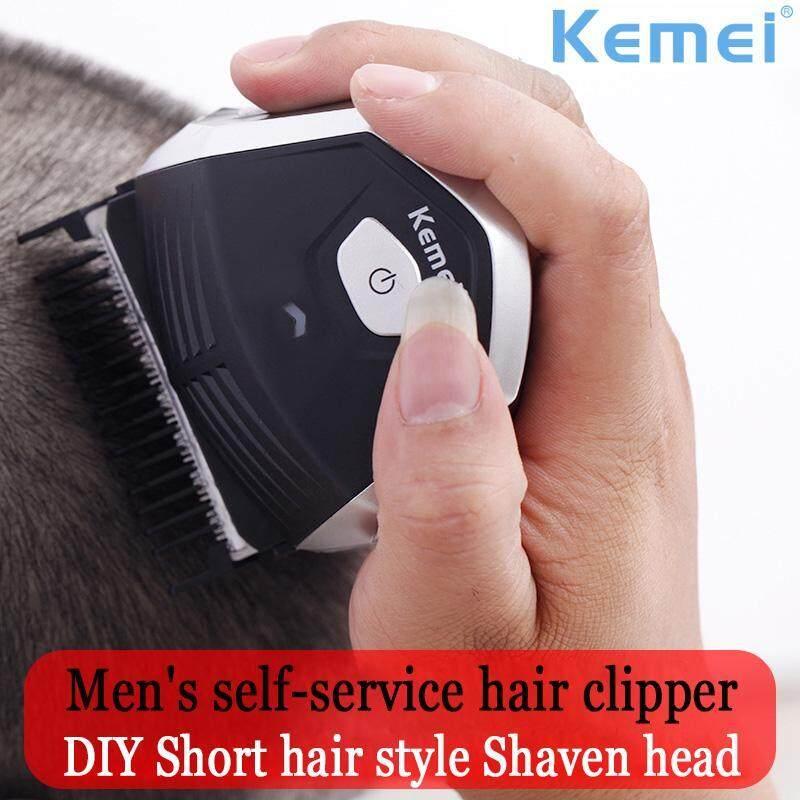 Offer Khuyến Mại Kemei Hair Clipper 0mm Bald Men DIY Hair Cutter Portable Hair Beard Trimmer Wireless Shortcut Pro Auto-Haircut Machine Free Shipping