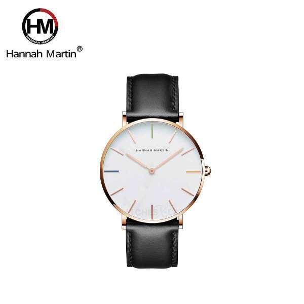 Hannah Martin Hue Black Men Leather Quartz Watch Malaysia