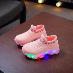 Bốt thể thao huadoaka cho bé gái, giày búp bê giày chạy bộ Giày thể thao mang thường ngày có đèn LED lưới cho bé trai bé gái trẻ nhỏ
