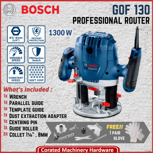 [CORATED] Bosch Router GOF 130 Professional 1,300Watt (6 Month Warranty)