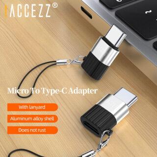 ACCEZZ Bộ Chuyển Đổi OTG USB C Sang Micro USB Bộ Chuyển Đổi Sạc Nhanh Cho iPhone Samsung Cáp Dữ Liệu Bộ Chuyển Đổi Chiếu Sáng Sang Loại C thumbnail