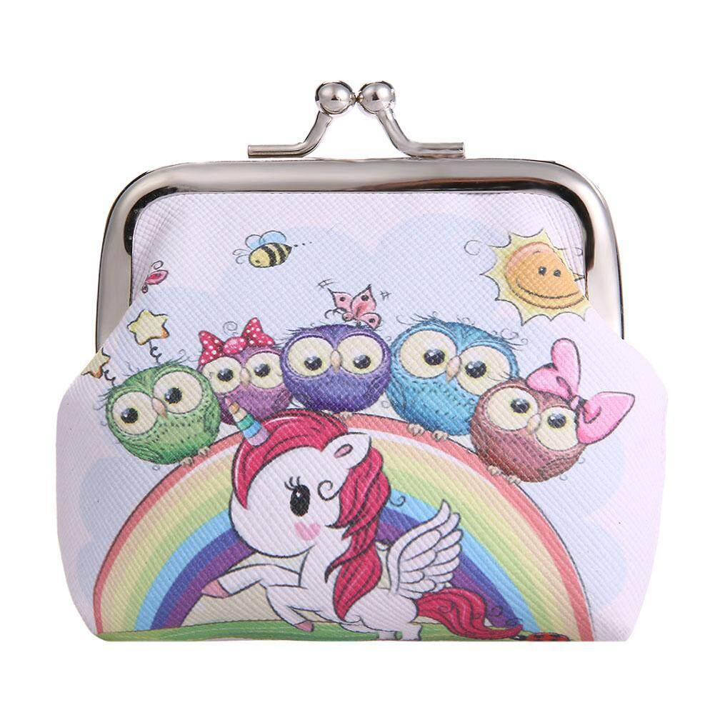 Cute Cartoon Printed Women Girls Wallets Clip Mini Coin Card Holder Clutch By Mireille.