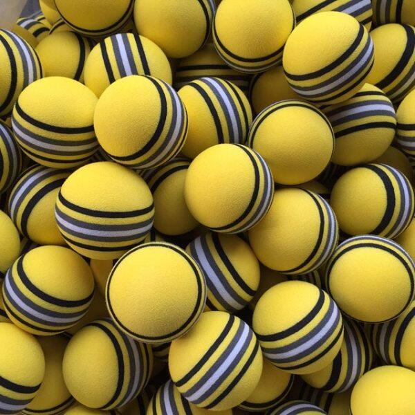 50 Cái/túi EVA Foam Golf Balls Hot New Vàng/Đỏ/Xanh Cầu Vồng Sponge Trong Nhà Golf Thực Hành Bóng Đào Tạo Viện Trợ