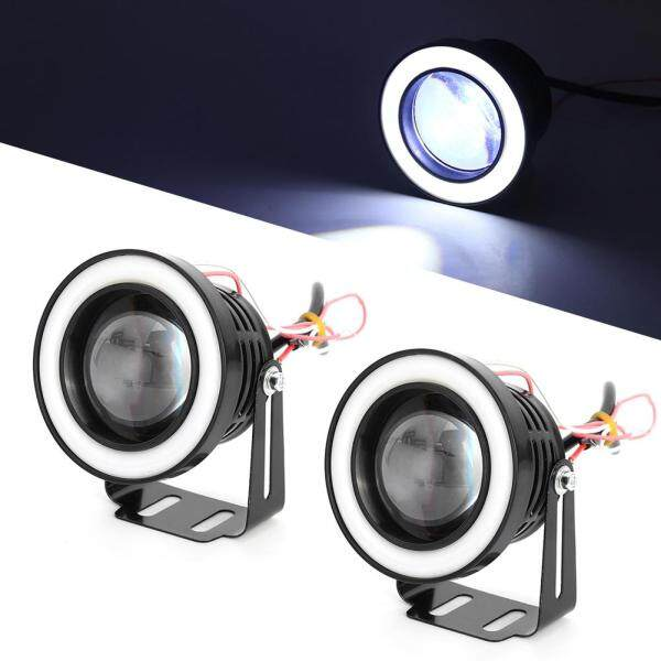 Xe 30W Đèn LED Chống Nước Đèn Sương Mù Khẩu Độ Trắng Đèn Chạy Ban Ngày COB 76Mm
